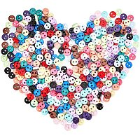 NBEADS 15 Colors 450 Pcs Sewing Buttons, 4.5mm Round Tiny Doll Nylon Buttons for Kids Shirts Dress Pants Garment Making and DIY Scrapbooking