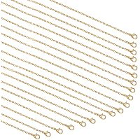 """Arricraft 20 Strands Golden Cable Chain Necklace Twisted Link Chain Necklace Bulk for Pendant Necklace Jewelry Making, 23.6"""""""