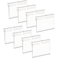 PandaHall Elite 100pcs Plastic Label Holders Sign Display Holder Label Store Sign Holders for Retail Price Ticket Tagging Merchandise Shopping Mall Store Shop Wire Shelf Home(6cm x 4cm)