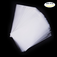 PandaHall Elite About 550-600Pcs Cello Cellophane Bags Acrylic Coated Crisp Treat Bag Gift Basket Supplies Size 25x15cm Crystal Clear