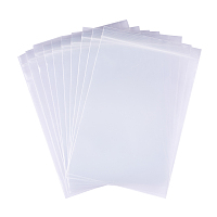 """BENECREAT 100 Pack 6 Mil Clear Resalable Heavy Duty Plastic Reclosable Zipper Bags - 4"""" x 6""""(10 x 15cm) for Food Craft Storage"""