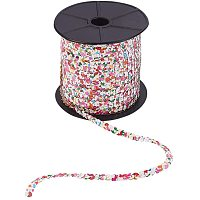Arricraft Spangle Flat Sequins, Paillette Trim Spool String 6mm Flat Sequin Trim Sequin Ribbon for Crafts, DIY Projects, Embellishments, Costume Accessories, 100 Yards