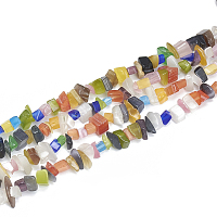 Arricraft Cat Eye Beads Strands, Chip, Colorful, 5~11x3~9x1~9mm, Hole: 1mm, about 200~300pcs/strand, 33.8 inches
