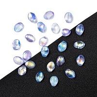 NBEADS Czech Glass Beads, Tulip Petal/Lily Petal, RoyalBlue, 8.5x6x4mm, Hole: 1mm; about 37pcs/10g