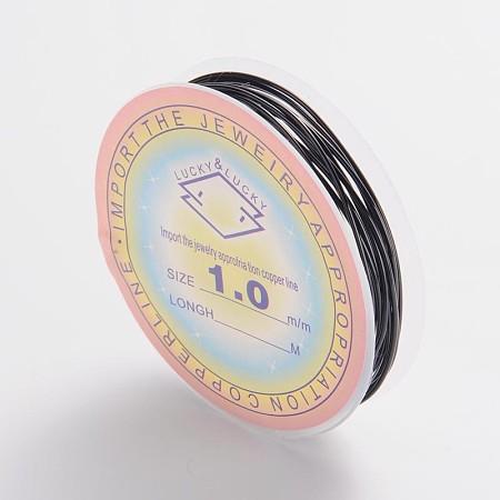 ARRICRAFT 10 Roll 1mm Copper Wire Jewelry Beading Wire Black 18 Gauge for Crafting Beading Jewelry Making 2.5m per Roll