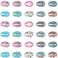PandaHall Elite 40pcs 10 Color Print Shell Beads Alloy Cowrie Shell Charms Beads for DIY Summer Beach Craft Jewelry Making Accessories, 16x11mm