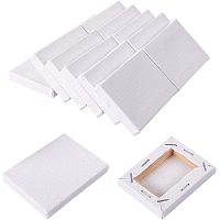 NBEADS 15 Packs Mini Canvas Panel, 7x5cm Painting Sketchpad Wooden Sketchpad Drawing Board for Painting Craft Drawing