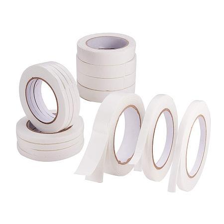 PandaHall Elite 15 Rolls Double Sided Foam Tape White PE Foam Tape Sponge Soft Waterproof Mounting Adhesive Tape, Width 3/10 2/5 1/4 Inch, Each Roll 6.56 Feet