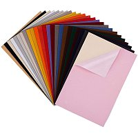 """BENECREAT 26PCS Mixed Color Velvet Adhesive Back Sheet 11.6"""" x 7.8"""" Jewelry Box Liner Fabric, Durable and Water Resistant for Art and Craft Making"""