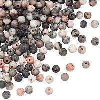 Olycraft Natural Pink Zebra Jasper Beads, Round, 4mm, Hole: 1mm; about 93pcs/Strand, 15.20''(38.6cm), 2strands/box