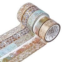 CRASPIRE 5 Rolls 15mm Gold Washi Tape Foil Masking