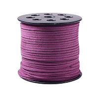 ARRICRAFT 1 Roll (98 Yards, 295 Feet) 2.5mm Wide Faux Suede Cord Flat Micro Fiber Lace Leather Spool for Beading Necklace Jewelry Making (Purple)