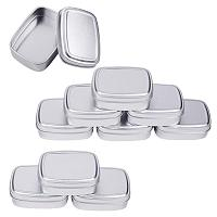 BENECREAT 9 Pack 2.7oz Tin Cans Rectangular Aluminum Containers with Solid Top Lid and Round Smooth Edges for Treats, Favors and Crafts