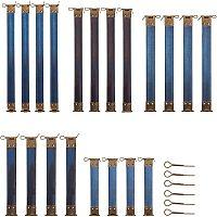 PandaHall Elite 20 pcs 5 Sizes 4/4.8/6/7/8 Inch Metal Internal Flex Frame Kiss Clasp with Pins for Bag Coin Purse DIY Handbag Hinges, Blue