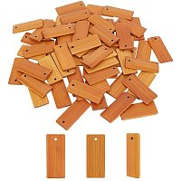 PandaHall Elite 60 pcs Blank Wooden Pendants, Undyed Rectangle Bamboo Gift Tags Name Tags Hang Labels Key Chain for Wine Bottles Arts Crafts Home Decoration