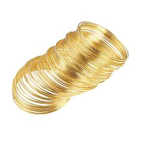 NBEADS 1000g Steel Bracelet Memory Wire, Golden Color, 5.5CM, Wire: 1.0mm Thick, About 700 circles/1000g