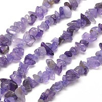 SUNNYCLUE Natural Amethyst Chip Beads, 5~8x5~8mm, Hole: 1mm, about 400pcs/box