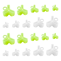 SUPERFINDINGS ABS Plastic Fishing Hook Bonnets Treble Hook Covers,  for Standard Hook, Mixed Color, 16~28x15~29x10~16mm, hole: 3.5~6.2mm, 150pcs/set