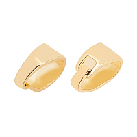 Brass Snap on Bails, Real 18K Gold Plated, 7x3x5mm, 250pcs/box