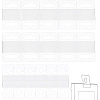 NBEADS 200 Pcs Hang Tabs, Folding Display Tags Clear Hanging Tab Hooks Display Card for Store Retail Display