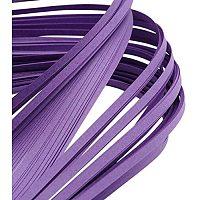 Pandahall Elite 1200 Strips Paper Quilling Strips, Purple Quilling Strip Set, 3mm Width 39cm Length