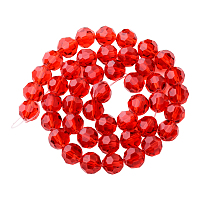 PandaHall Elite Faceted Round Imitation Austrian Crystal Bead Strands, Grade AAA, OrangeRed, 8mm, Hole: 1mm; about 50pcs/strand, 15.7""