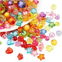 NBEADS Random Mixed Transparent Beads, 300g Acrylic Crafts Style Beads for DIY Jewellery Necklace Bracelet Making