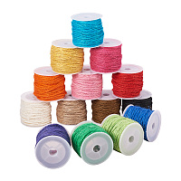 PandaHall Elite 14-Color 2mm Jute Twine String Rope Hemp Rope Jute Cord Total 140 Yards for DIY and Crafts, Gift Wrapping