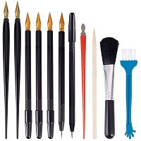 PandaHall 22pcs Scratch Painting Tools, Dual Scratch Coloring Pens Bamboo Sticks Small Scraper Clean Brushes for Scratch Paper Art Paint DIY