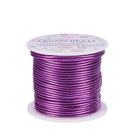 BENECREAT 18 Guage Aluminum Wire Length 492F Anodized Jewelry Craft Making Beading Floral Colored Aluminum Craft Wire - Purple