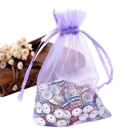 ARRICRAFT 100PCS 4x6 Inches MediumPurple Organza Gift Bags with Drawstring