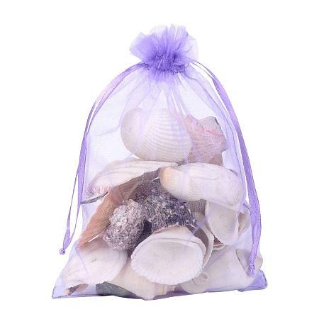 ARRICRAFT 100 PCS 5x7 inch MediumPurple Organza Drawstring Bags Party Wedding Favor Gift Bags