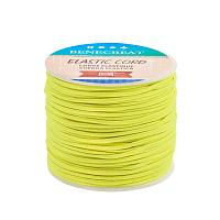 BENECREAT 2mm 55 Yards Elastic Cord Beading Stretch Thread Fabric Crafting Cord for Jewelry Craft Making (Yellow)