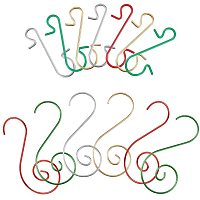 NBEADS 240 Pcs Iron S-Shaped Hook Clasps, 2 Different Types Heavy Duty S-Hanging Hooks for Rack Hanging Pans Pots Utensils Clothes Bags Towels Plants in Kitchen Bedroom Bathroom Office, Mixed Color