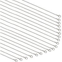 """Arricraft 20 Strands Necklace Chain Silver Plated Necklace Chains Bulk Cable Chain Charms for Pendant Necklace Jewelry Making, 23.6"""""""