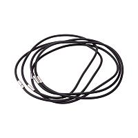 ARRICRAFT 5 Strands 18.11 Inches 4mm Black Rubber Necklace Jewelry Making with Platinum Color Brass Box Clasps