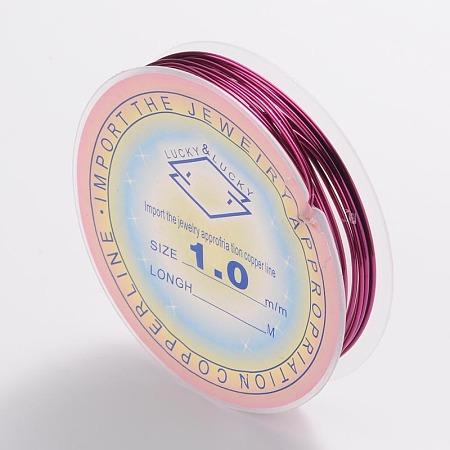 ARRICRAFT 10 Roll 1mm Copper Wire Jewelry Beading Wire Purple 18 Gauge for Crafting Beading Jewelry Making 2.5m per Roll