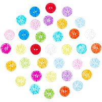 NBEADS 200 Pcs Assorted Colors Resin Flowers Button, Flat Round with Flower Button Two Holes Buttons for Christmas Art Crafts Sewing Decorative DIY Handmade