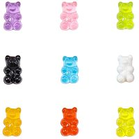 Arricraft 144pcs 16 Colors Gummy Bear Cabochons Resin Cartoon Bear Beads Embellishments Bears Animals Jungle Decoration for DIY Brooch Earring Decoration Mobile Phone Case Accessories