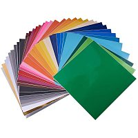 BENECREAT 35PCS Self Adhesive Vinyl Sheets 30x30cm Mixed Colors Sticky Back Vinyl Stickers for Advertising Labels Craft Lettering Car, Compatible with Most Cut Machines