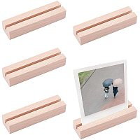 OLYCRAFT 10PCS Wood Place Card Holders Wood Name Card Holder Table Number Stands for Wedding Party Events Decoration Double Side Display Mini Blackboard—Rectangle