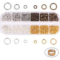 PandaHall Elite 1490 pcs 4 Colors 4/6/8mm Brass Open Jump Rings Jewelry Connectors O Rings with 1 pcs Golden Jump Ring Opener for Earring Bracelet Jewelry Making, Mixed Colors