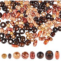 NBEADS 100g Wood Beads, Mixed Shapes Jewelry Craft Spacer Beads for DIY Necklace Bracelet Earring Making