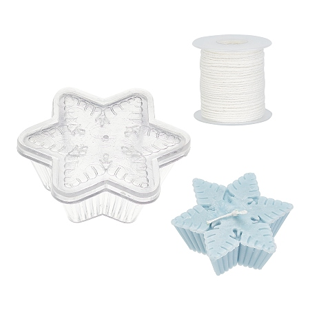 Candle Making Tool Sets, with Acrylic Candle Mold and Environmental Candle Wick, Mixed Color, 82x93x34.5mm, Inner Size: 58.5x51mm, 1pc