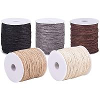 PandaHall Elite 545 Yards 5 Colors Natural Jute Twine 3-Ply Jute String Rope 2mm Hemp Rope Jute Cord for DIY Crafts Gift Wrapping Artworks Decoration Bundling (109 Yards Each Color)