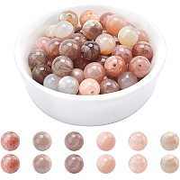 ARRICRAFT Natural Sunstone Beads Strands, Round, 8mm, Hole: 1mm; about 48pcs/strand, 15.7 inches, 1strand/box