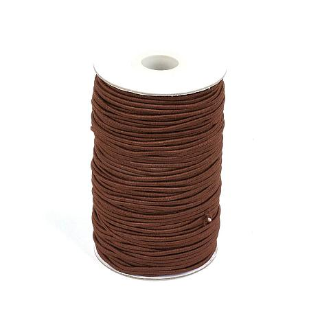 NBEADS A Roll of 70m Round Elastic Cord Beading Crafting Stretch String, with Fibre Outside and Rubber Inside, Sienna, 2mm
