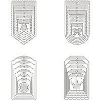 BENECREAT 4PCS Carbon Steel Cutting Dies Flower Label Frame Metal Die Cuts Metal Stencil Template for DIY Crafts Scrapbook Album Paper Card Embossing
