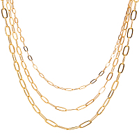 Brass Paperclip Chains, Flat Oval, Drawn Elongated Cable Chains, Soldered, Golden, 74x73x2.5mm; 13.8m/box