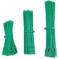 Plastic Reusable Multi-Purpose Cable Ties, Gear Tie Wraps, Soft Twist Ties, Medium Sea Green, 132x4~9x1~1.5mm, Hole: 8x3.5mm & 10x5mm